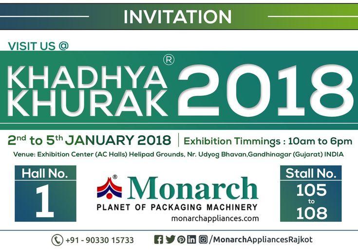 #khadhya #khurak #2018 #KhadhyaKhurak #Exhibition #Monarch #packaging #machinery #Ahmadabad #Surat #Rajkot #Metoda #MonarchAppliances