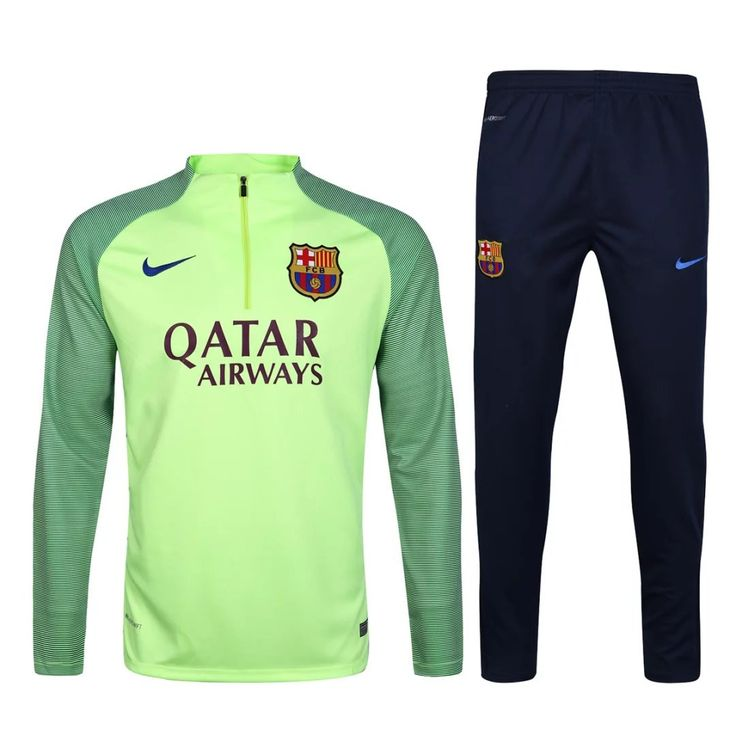 Barcelona 2017 Ghost Green Kids ( Youth) Tracksuit Slim Fit 1