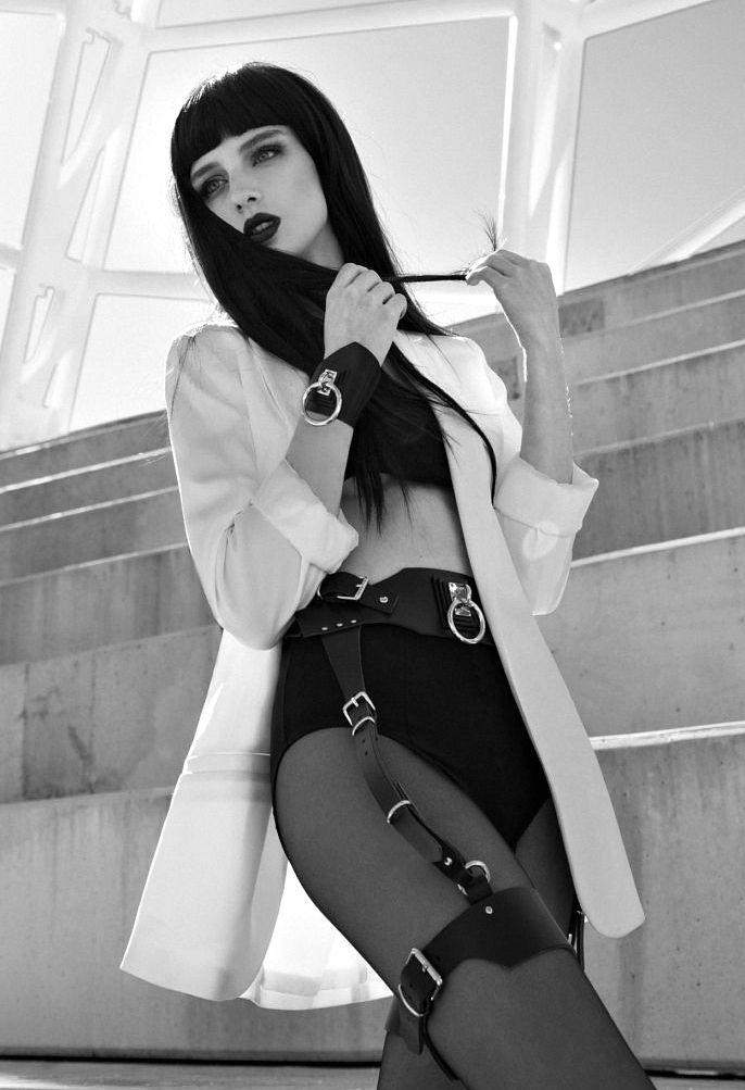"evan-knoblauch: "" WANING HERSE Black Leather Garter Belt † RHEAleathercrafts """