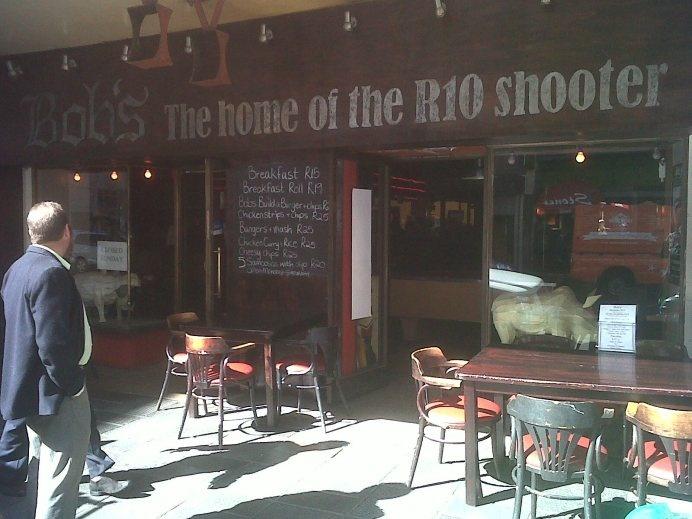 Bob's Bar in Long Street. #thumbsdown