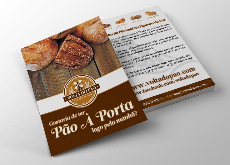 Volta do Pão | Flyer on Behance - Unleash Design more at www.unleashdesign.ca #GraphicDesign #VoltadoPao  #Bakery #flyer