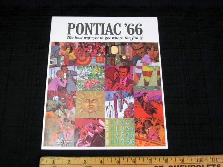 1966 Pontiac Full Size Car Catalog Sales Brochure CDN • CAD $30.80 - PicClick CA
