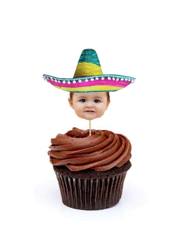 Mexican Sombrero Cupcake Toppers, Mexican Sombrero Cake Toppers, Mexican Fiesta, Fiesta Cake Toppers, Fiesta Party Banner, Mexican Sombrero