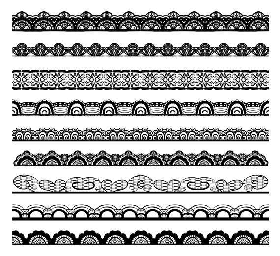 Conjunto negro de encaje frontera gráfico incluye:  9 archivos PNG con fondo transparente (12 ancho)  Cada archivo se encuentra en alta calidad de 300dpi de resolución. Conveniente para la mayoría de programas de ordenador  Se trata de productos digitales. Archivo estará disponible como una descarga instantánea en Etsy en cuanto tu compra sea completa.  Estos gráficos son excelentes artículos de artesanía hechos a mano, artículos de papel impresos, invitaciones, tarjetas, banderas de…
