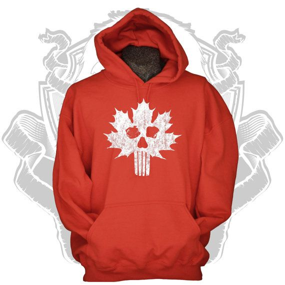 Canada Hoodie cool Canadian skull flag by gorillatactical on Etsy, $29.99