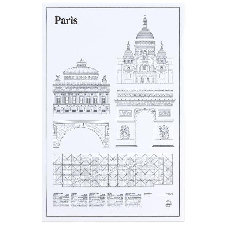 Paris Elevations poster - Studio Esinam #interior #design