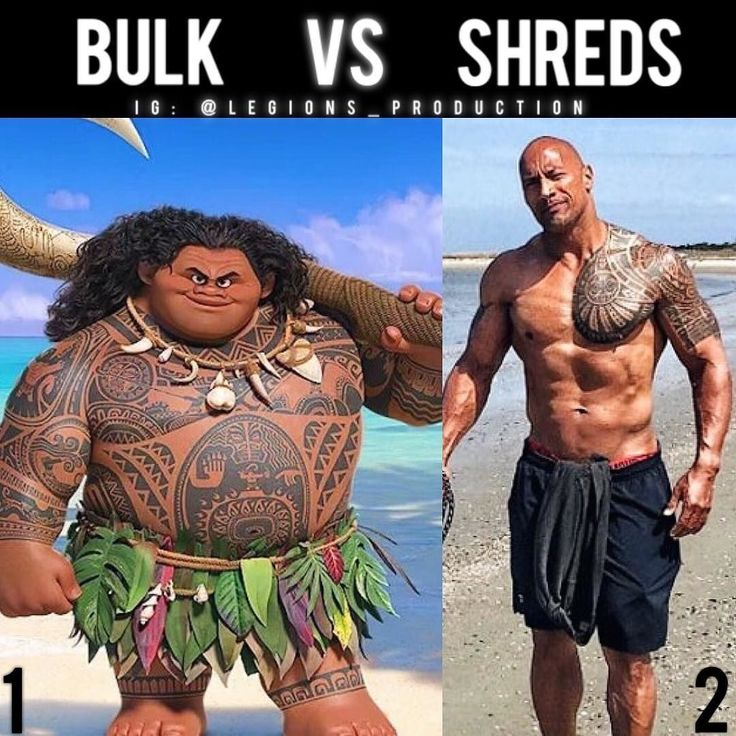 From @legions_production BULK VS SHREDS!  Founder : @king_khieu. Tag @therock lol! Bulking season or shredding season?  Which one are you?  1 or 2? Vote  below!  Thoughts? Opinions? What do you guys think?  COMMENT BELOW!  Athletes.  1 - Maui from the movie Moana.  2 - @therock.  TAG SOMEONE who needs to lift!  _________________  Looking for unique gym clothes? Use our 10% discount code: LEGIONS10 on Ape Athletics  fitness apparel! The link is in our  bio! _________________  Principal…