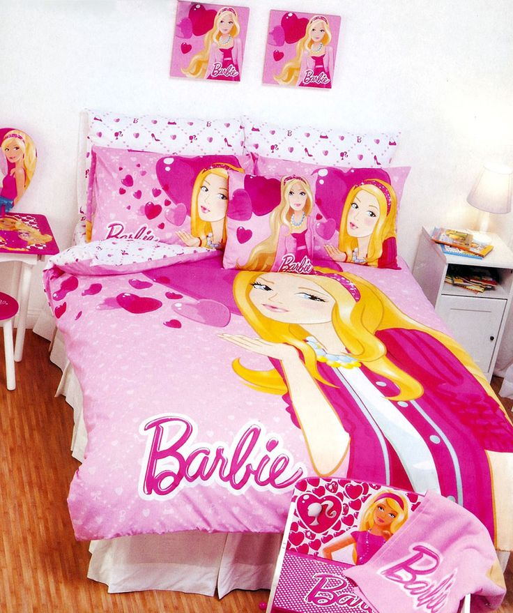 Barbie Hearts Quilt Cover Set from Funstra Toys