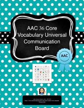 When supporting AAC users, we can teach and support two types of vocabulary, core and fringe. However, our main focus should be on teaching core vocabulary. This document has a 36 Core Vocabulary Universal Communication Board with the rationale behind the use of core vocabulary vs fringe for