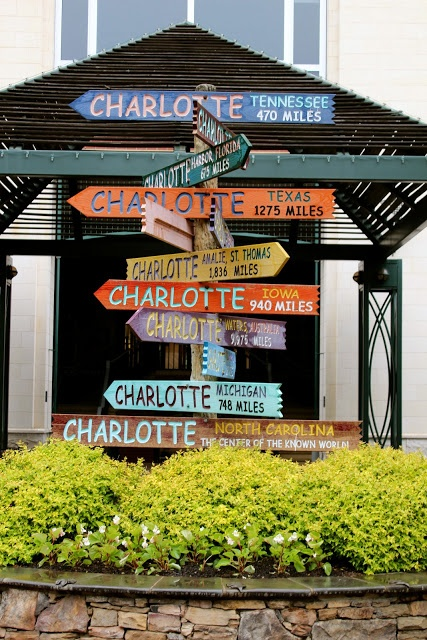 """Charlotte, NC - """"the center of the known world"""" too cute!"""