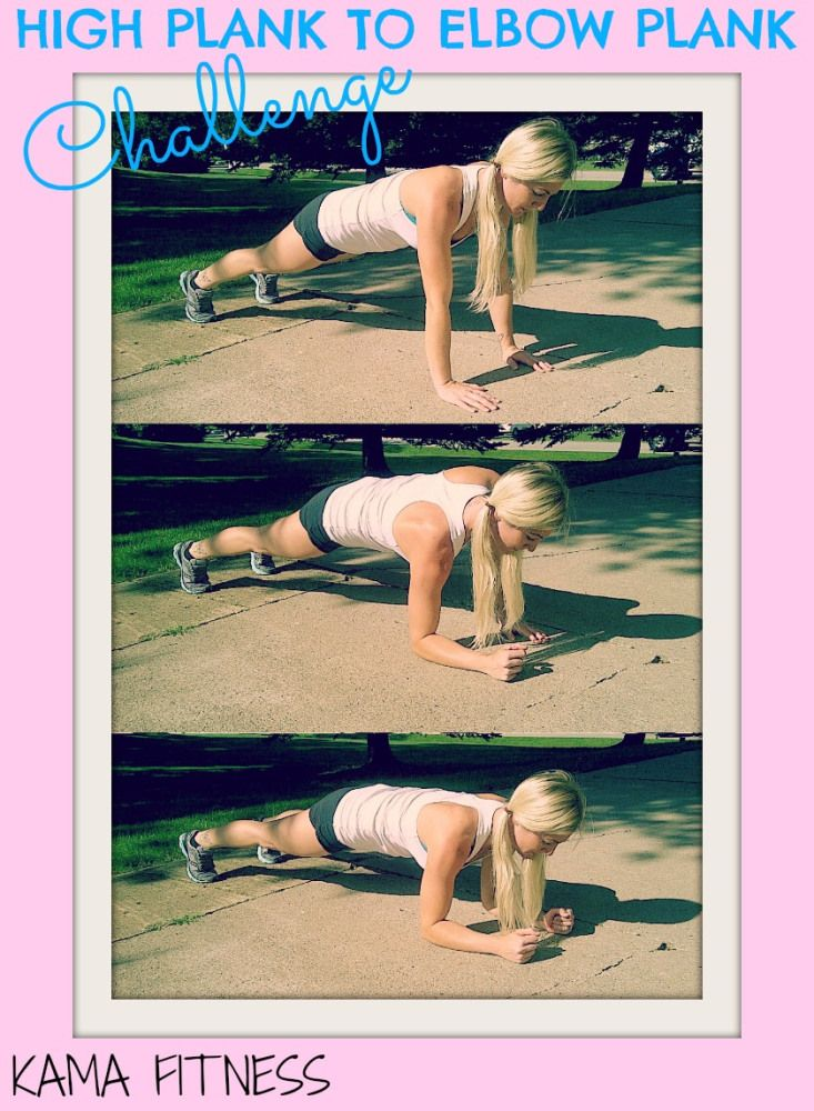 4 Minute Plank Challenge {High plank to Elbow plank}