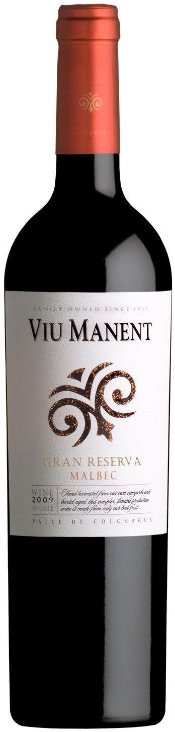 """""""Viu Manent Gran Reserva"""" Malbec 2012 - Viña Viu Manent, Valle de Colchagua------------------ Terroir: Valle de Colchagua (Valle de Rapel) - Valle Central----------Crianza: 87% en roble francés durante 12 meses"""