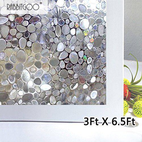 Fancy Fix Adhesive Free Vinyl Privacy Raindrop Glass
