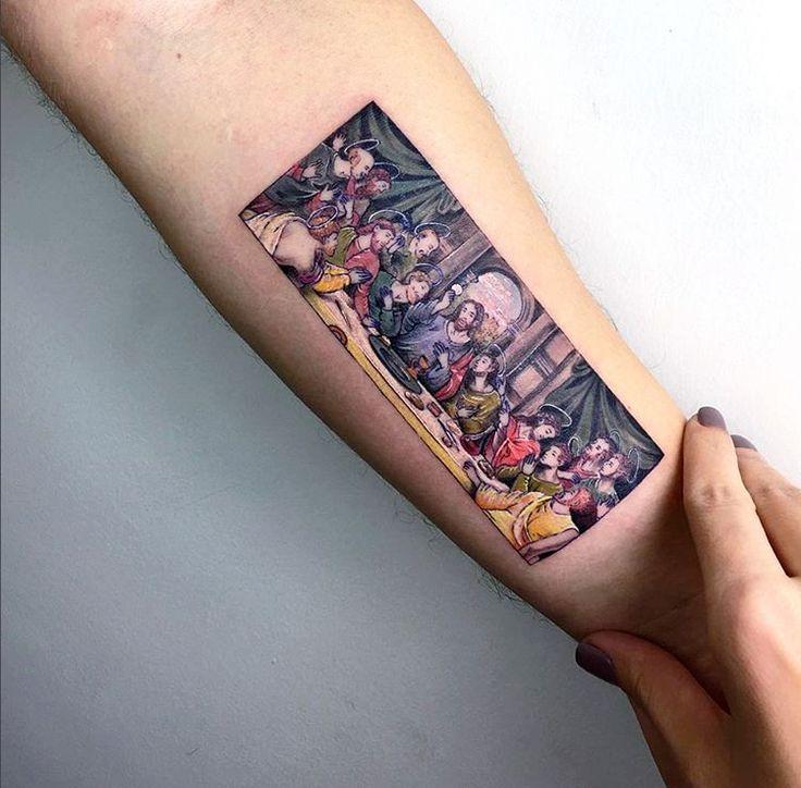 "6,346 Me gusta, 36 comentarios - 33third Media (@33thirdmedia) en Instagram: ""TAG  FOLLOW @33THIRDMEDIA  LIKE. ------- ARTIST: @EVAKRBDK #lastsupper #jesus #12apostles #tattoo…"""