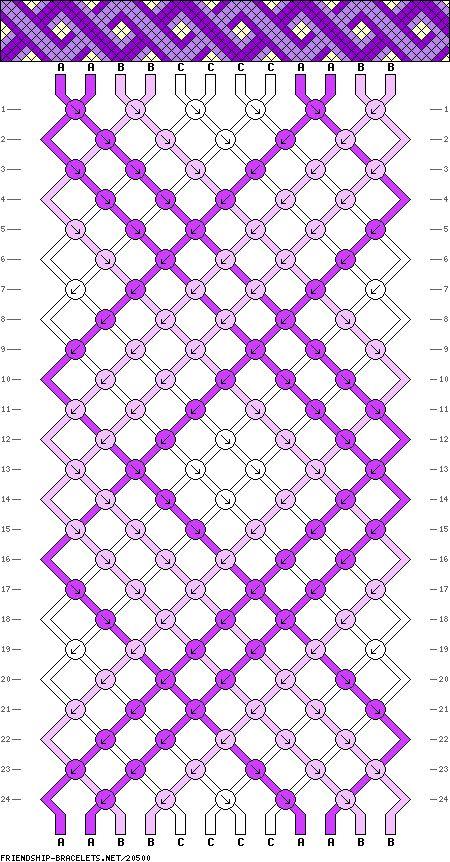 Muster #20500, Streicher: 12 Zeilen: 24 Farben: 3