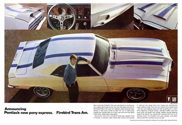 1969 Pontiac Trans Am Ad 60 S Auto Ads Pinterest