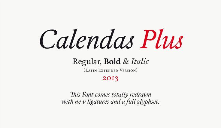 Calendas Plus. Designed by Atipo. Amazing.