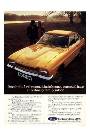 Ford Capri Gold Car Advert Print iPosters From £5.99