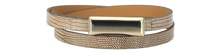 #Kazar Beżowo-brązowy pasek 24469-16836-08-27 z kolekcji 2014 - sklep internetowy Kazar