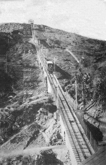Panorámica Funicular del Cerro San Cristóbal de Santiago en el año 1925. Fotos Históricas de Chile