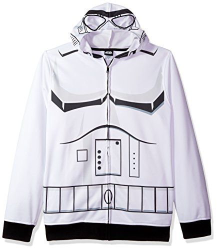 Star Wars Men's Storm Trooper Character Zip Front Hoodie //Price: $34.99 & FREE Shipping //     #starwarsmeme