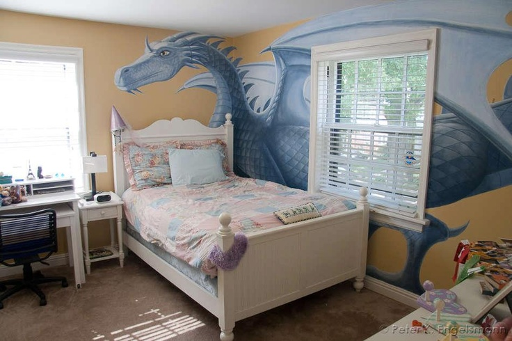 Dragon Mural Kids Rooms In 2019 Baby Room Themes