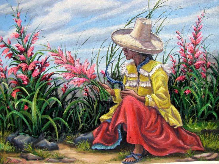 Pintura de Víctor Amado Portal, Cajamarca Perú