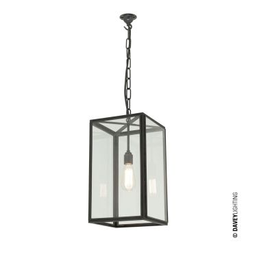 7639/20 Small Square Pendant Light by Davey Lighting