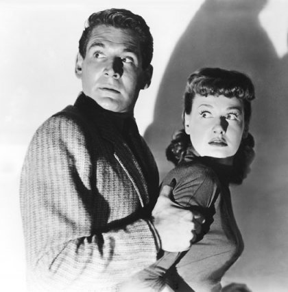 "Gene Barry and Ann Robinson - War of the Worlds (1953). Ms. Robinson will appear in our upcoming documentary ""Monsters, Martians and Mad Scientists: Horror in the Atomic Age."" For more information, visit Operator13Productions.com"