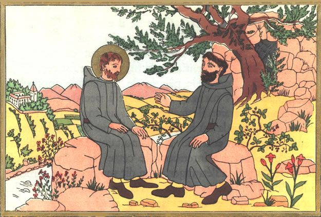 Later, after settling in a commune named Enfide, Saint Benedict met a man named Romanus of Subiaco, who lived in a monastery near a cave. Saint Benedict was inspired by the way this man lived, and chose to live in the cave nearby as a hermit.