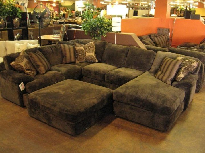 Awesome Sectional Sofa With Oversized Ottoman Amazing Sectional