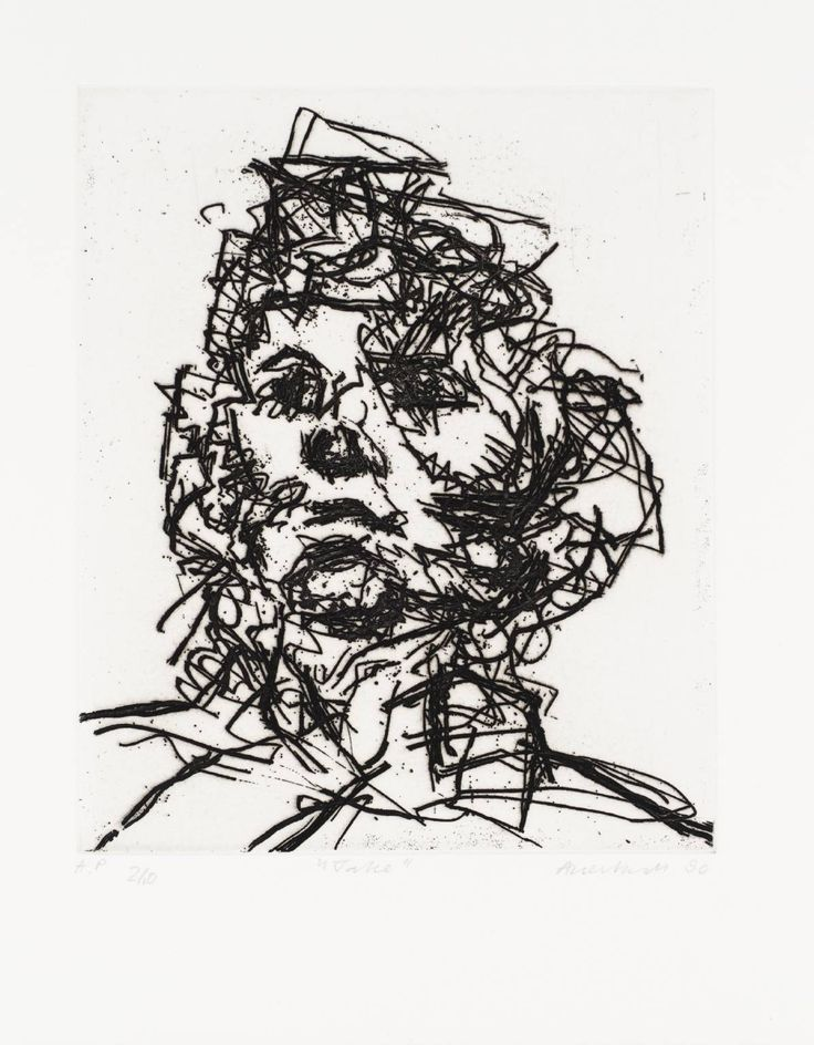 Frank Auerbach  Jake, 1990. Etching on Paper.