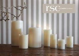 Real Safe Candles - Made from real parrafin wax, battery operated flickering bulb; no one would know the difference !