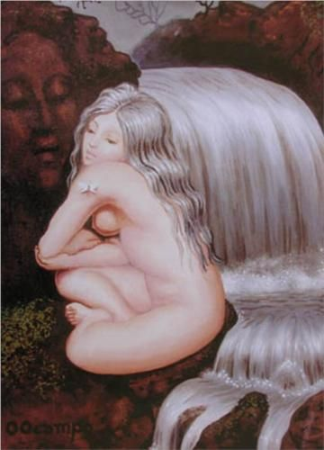 Silver Threads - Octavio Ocampo...old lady and young girl remastered! Love it!
