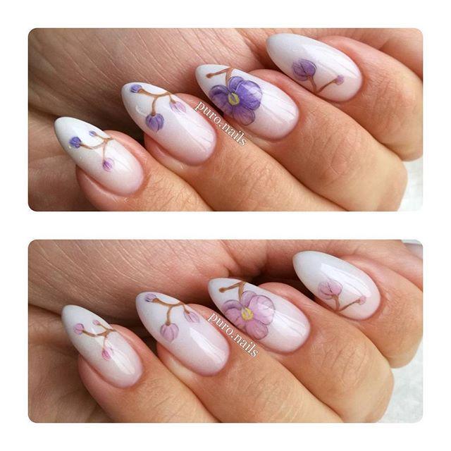 Kto lubi lakiery termiczne? :D jaaaa! Kwiatki zmieniaja kolor w zaleznosci od temperatury :D wykonane kolorem TC02 na bb 80516 oba od @blueskypolska #nailart #nailsoftheday #nails #nail #hybrydnails #hybrydymanicure #instant #instanail #nails2inspire #paznokciehybrydowe #blueskypolska #bluesky💙 #piekne #paznokcie #kwiaty #termonails #nailartist_manicure