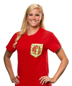 Chevron Pocket T-shirt. www. sassysorority.com  #AGD  #chevron #sorority