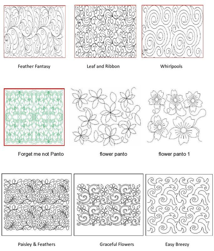 1000+ images about Quilting - Longarm pantographs on Pinterest Quilt designs, Machine quilting ...