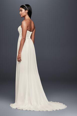 db3503f3f28 Long Sheath Beach Wedding Dress - David s Bridal Collection ...