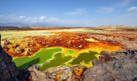 De Dakol-vulkaan in het noordoosten van Ethiopië, de warmste plek op aarde