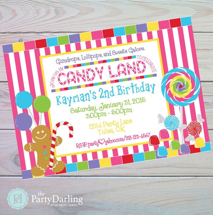 Candy Land Invitation | Candy Land Party | Candyland Invitation | Candyland Birthday | Sweet Shoppe Party | Candy Party | The Party Darling by ThePartyDarlingShop on Etsy https://www.etsy.com/listing/460004670/candy-land-invitation-candy-land-party