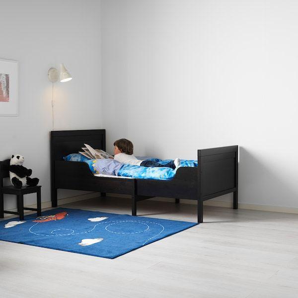 Sundvik Ext Bed Frame With Slatted Bed Base Black Brown 38 1