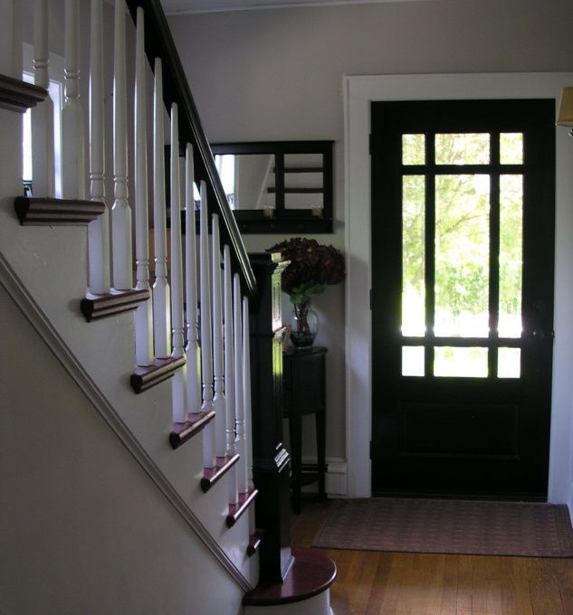 Simple Colonial Entry We Just Replaced Our Old Door With This