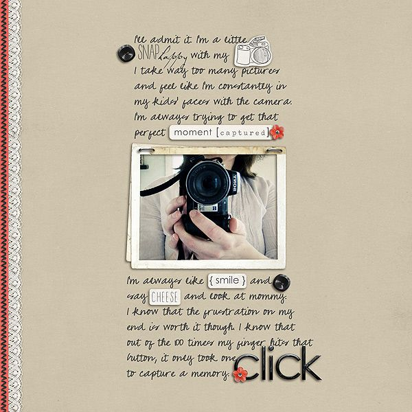 click21 by Sarah Bennett..word stickers replacing words. journaling framing the photo