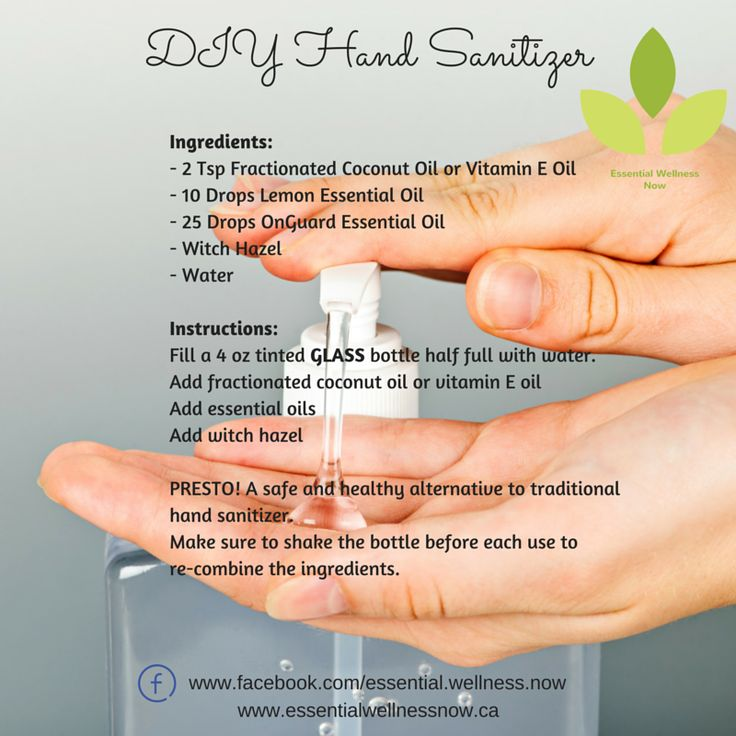 DIY Hand Sanitizer doTERRA  Essential Oils  Health & Wellness