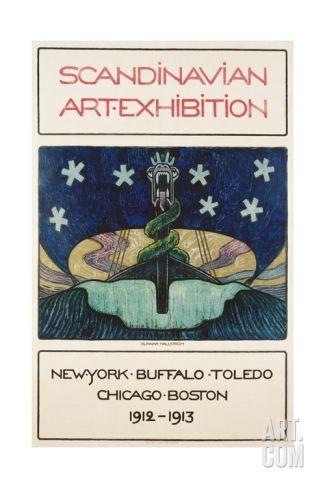 Scandinavian Art Exhibition: 1912-1913 Poster Giclee Print by Gunnar August Hallstrom at Art.com