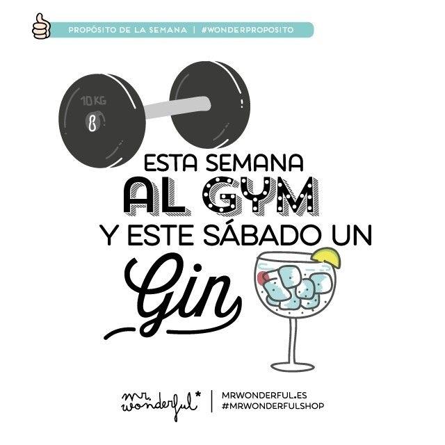 Gym/ Gin #mrwonderful