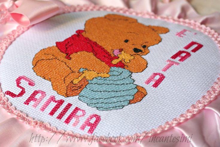 Cicogna fiocco nascita winnie the pooh, by Incantesimi - Creazioni Artigianali, 30,00 € su misshobby.com