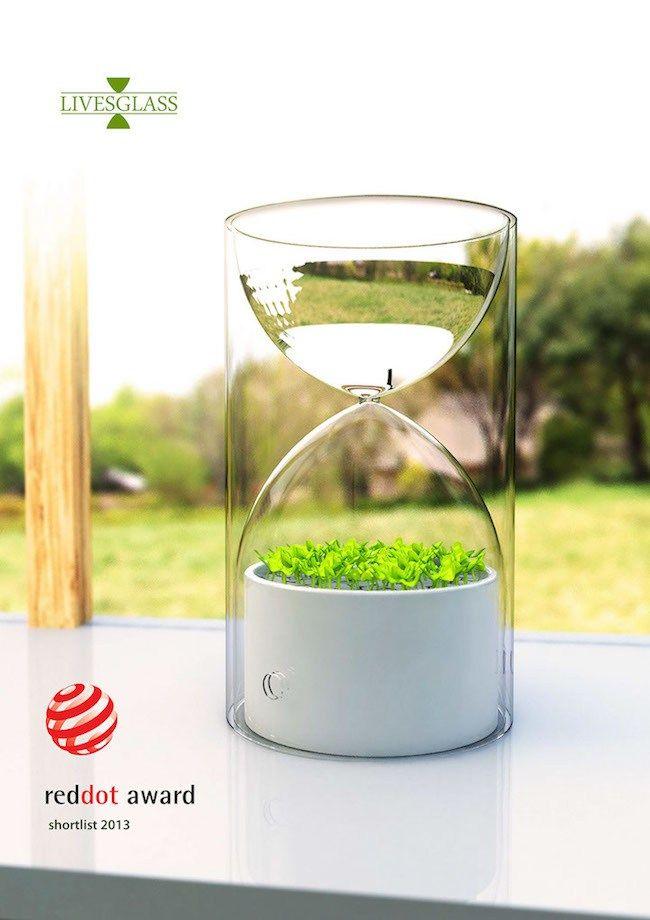 超迷你桌上型溫室 讓你不會忘記澆水的沙漏盆栽 Lives Glass » ㄇㄞˋ點子靈感創意誌