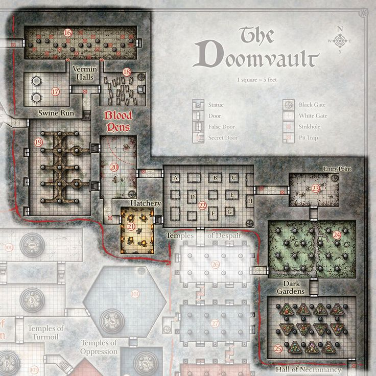 The iron circle d d 5e google search fantasy maps for Floor 2 dungeon map