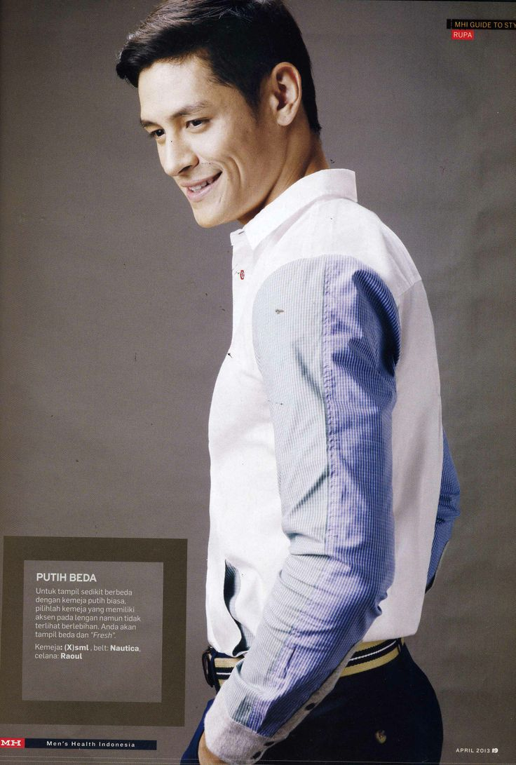 (X)S.M.L Two Tones Shirt is appeared on Men's Health Indonesia - April 2013